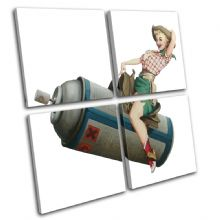 Cowgirl Banksy Painting - 13-0798(00B)-MP01-LO